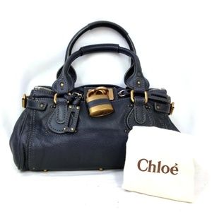 Auth Chloe Paddington Leather Hand Bag #958O65